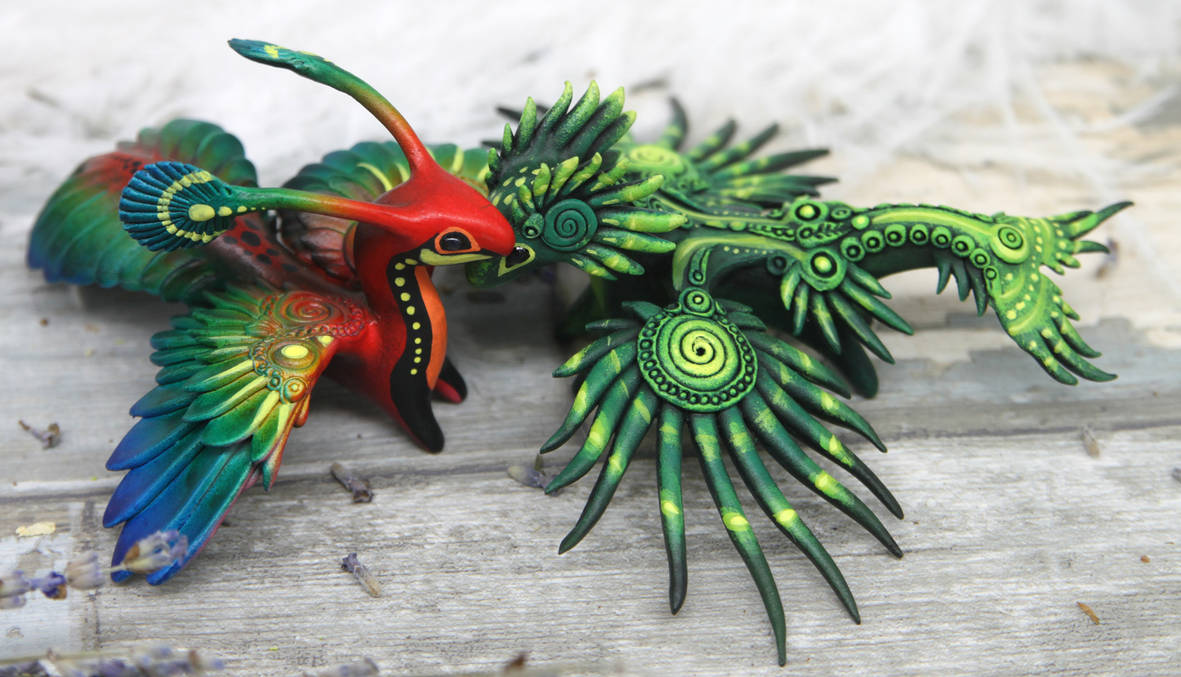 Two tropical dragons by hontor