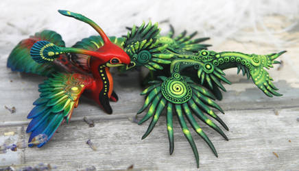 Two tropical dragons