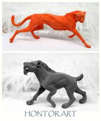 Cheetah and Smilodon master-models