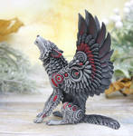 Fantasy winged wolf