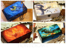 New wooden boxes