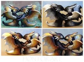 How I paint a dragon couple