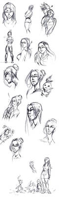 Stylo sketch Romy Estban by Tiger-Lilyy