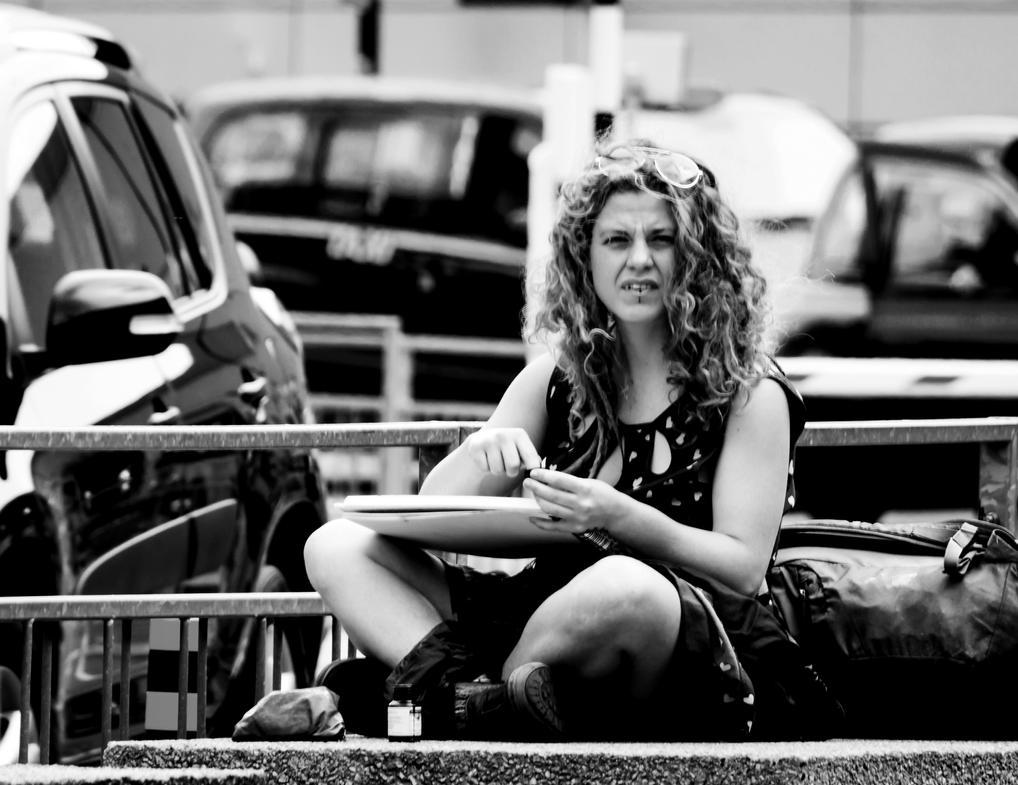 Street artist...Manchester.UK by ollie2008
