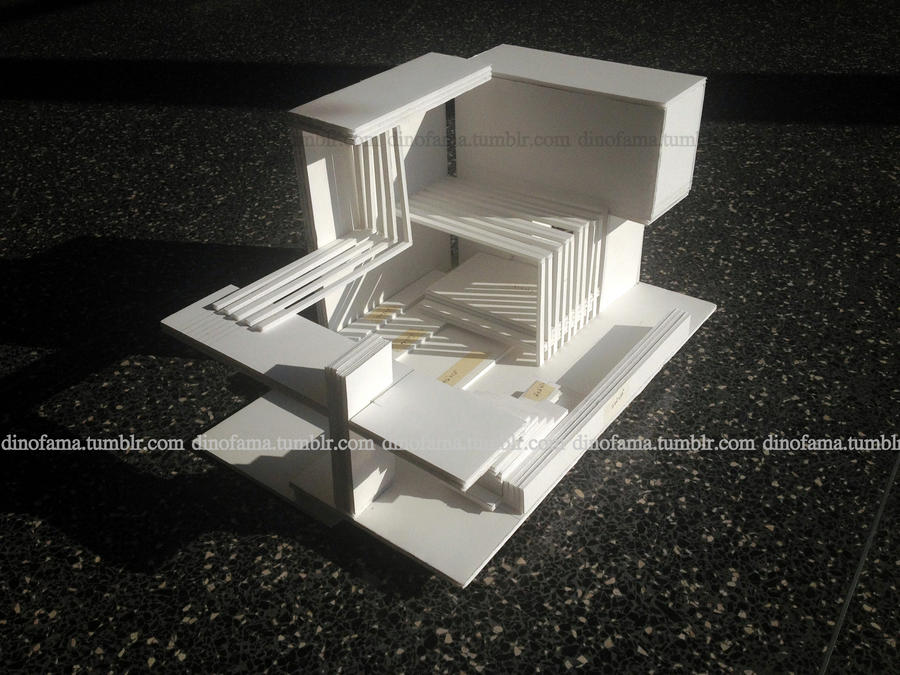 Transitional space model 1 by dinofama on deviantart - Small spaces architecture model ...