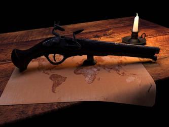 Flintlock Pistol scene by Yentl-Star
