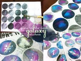 DIY tutorial - Nebula Watercolour stickers