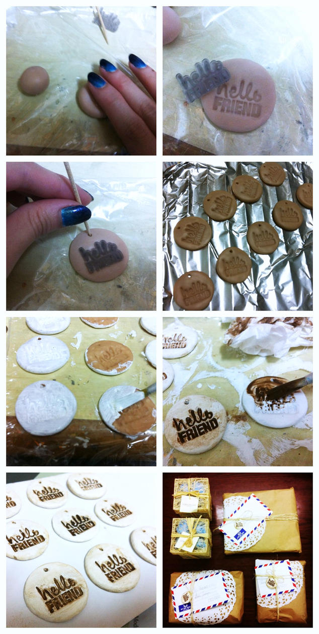 Bake Polymer Clay With Acrylic Paint