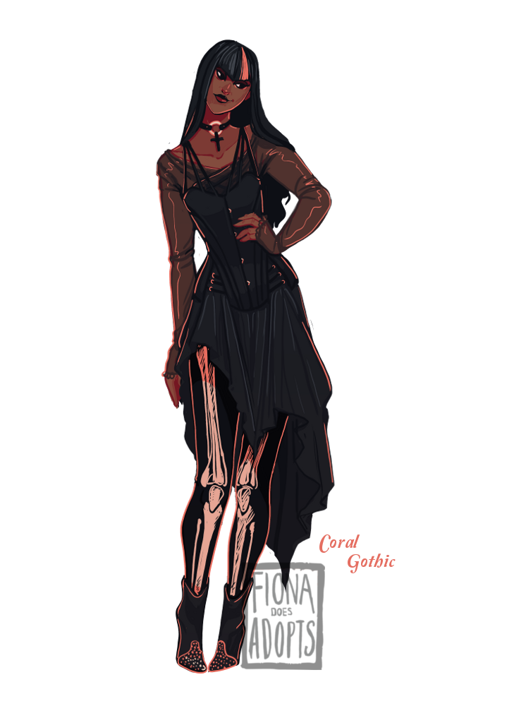 [Closed] Adopt - Coral Gothic by fionadoesadopts