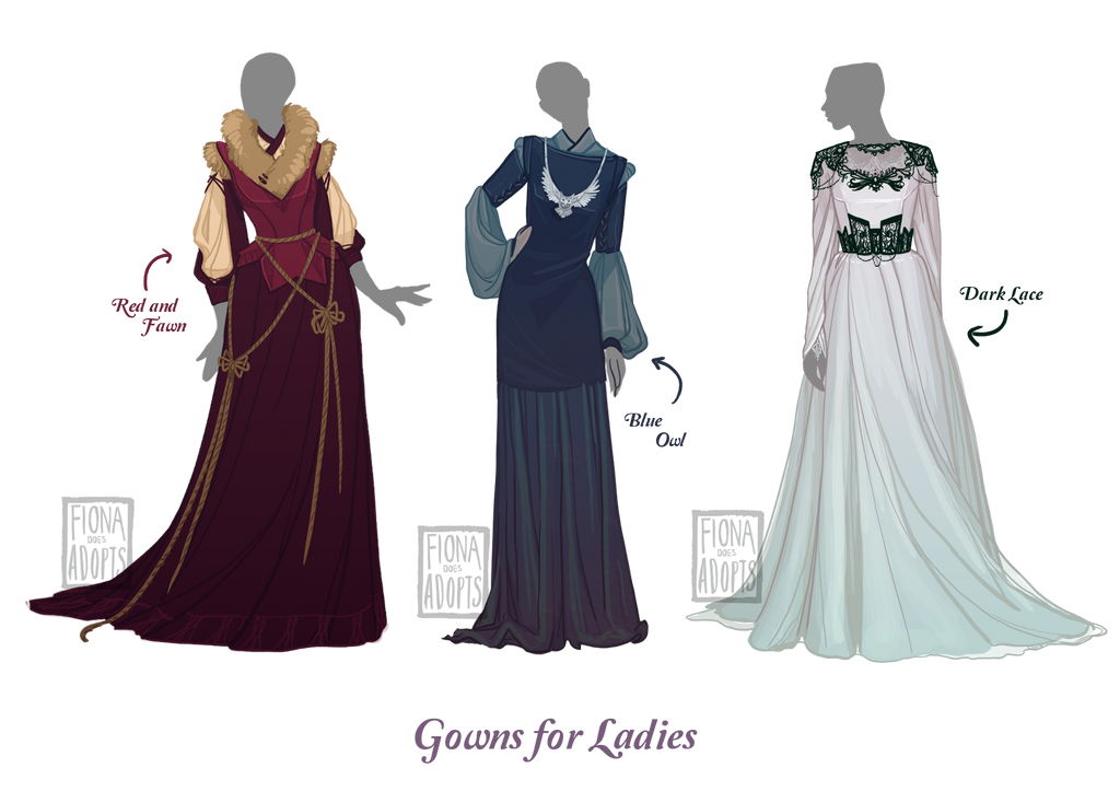 closed] Outfit Adopt - Gowns for Ladies.. by fionadoesadopts on ...