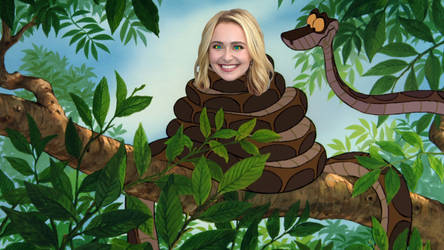 Hayden Panettiere And Kaa by DrPepperMantra
