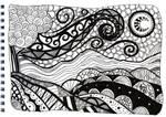 Doodle landscape by EllieFox
