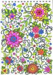 Doodle flowers by EllieFox