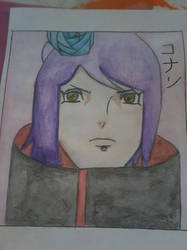 Water colour of Konan from Naruto Shippuden by jessicachilvers