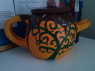 Clay Tree of Life teapot by jessicachilvers