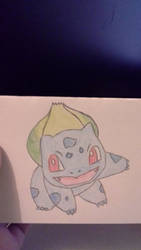 Sketch of Bulbasaur from Pokemon by jessicachilvers