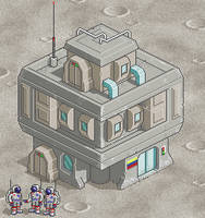 Moon Bunker by daporta