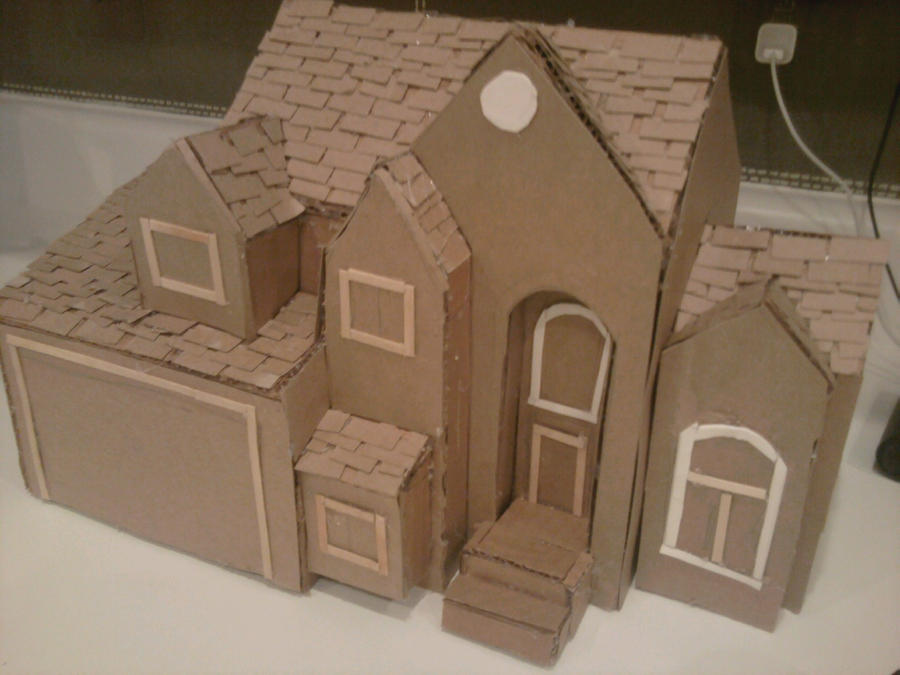 Cardboard House By Squeaker Kitty On Deviantart