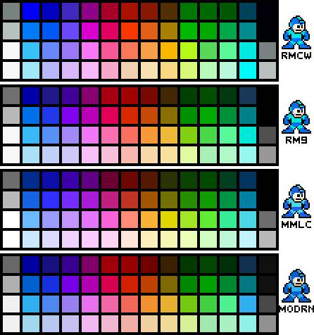 NES Palettes - Mega Man Edition by N64Mario84 on DeviantArt