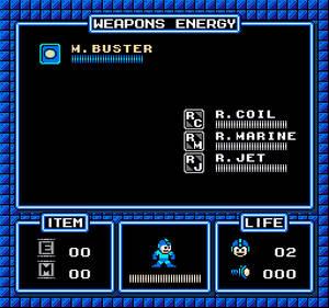 Mega Man Improved Pause Menu for a Game Engine