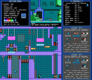 Silly Little MegaMan Game Engine Prototype Screens
