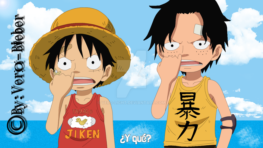 Luffy And Ace Kids by Vero-Light on DeviantArt