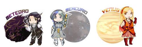 Meteor-Mercury-Venus
