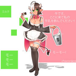 [CLOSED] Adoptable Auction - Cow Girl MooMoo-chan by chanrin903