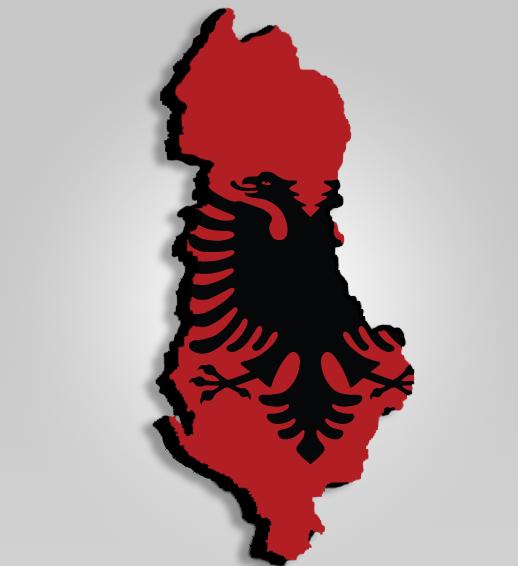 Albanian Map 3D by MKadriovski