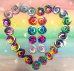 Rose Pride Customizable Earrings! by ColorfulCupcakez