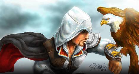 Ezio - Assassin's Creed by Katia-Gagne