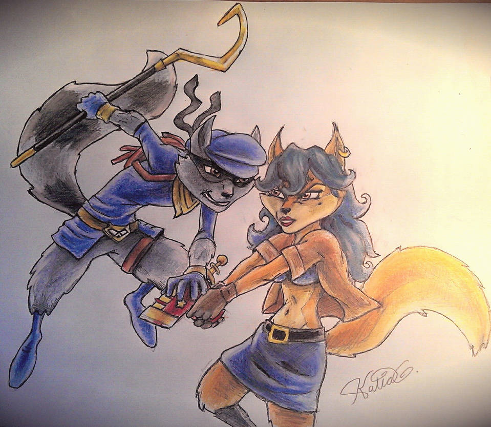 Sly and Carmelita COLORS by Katia-Gagne