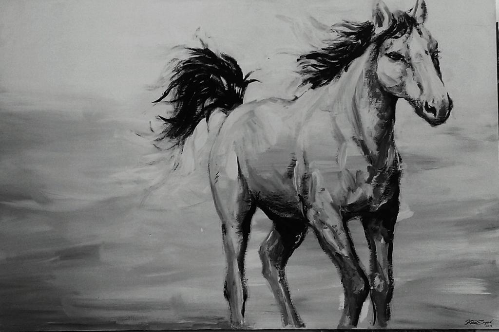 Horse by Katia-Gagne