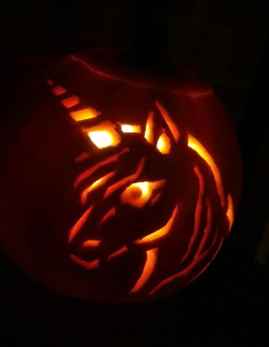 Unicorn Pumpkin by Katia-Gagne