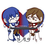 Chibi a Day 2021: 038-KaiMeiShipping by Luckster