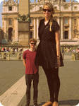 Tall sister- tiny brother by lowerrider on DeviantArt