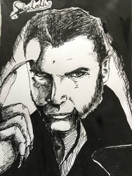 Sabretooth Ink portrait! by AhBlepO