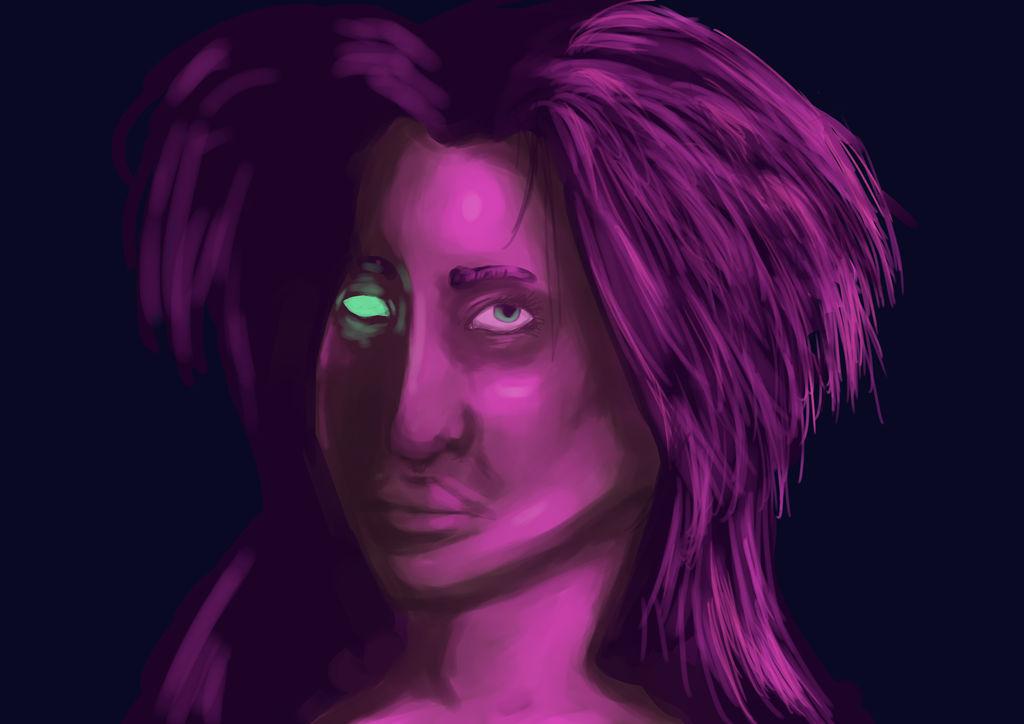 Roze Licht Studie 1 by AhBlepO