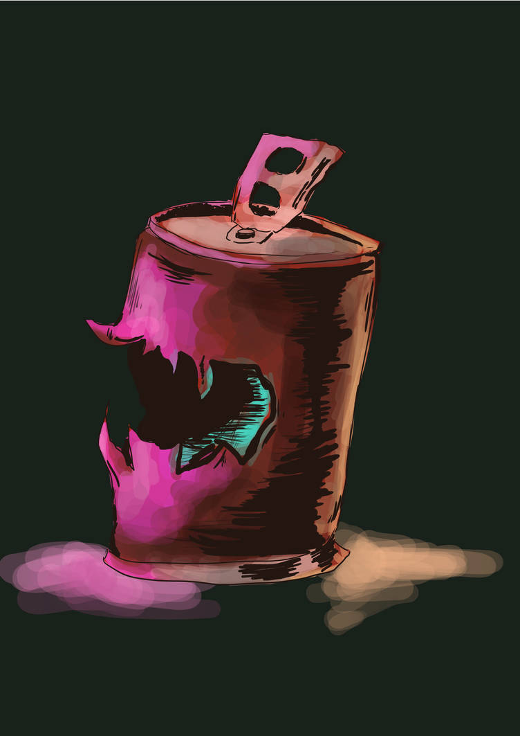 The haunted can (doing comissions) by AhBlepO