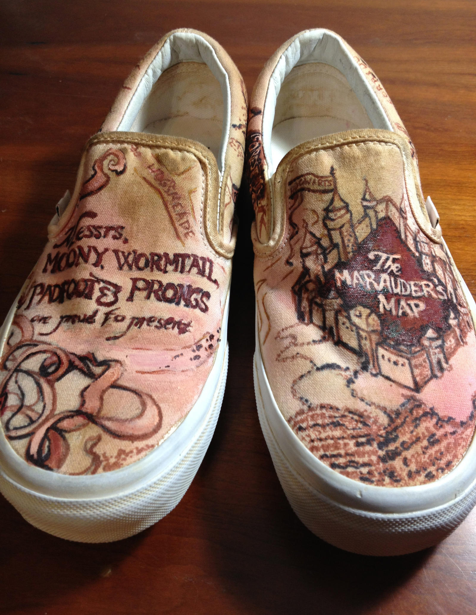 marauder s map shoes by marizzo on deviantart
