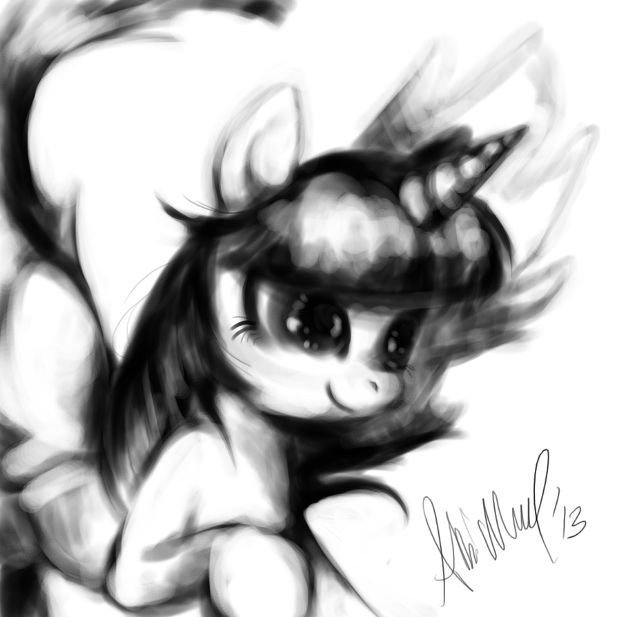 Alicorn Twilight sketch by Aba-kadabra