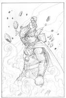 Thor, God of Thunder by duanenicholsart
