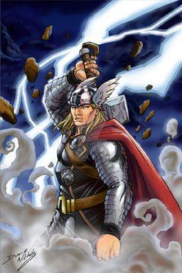 Thor, When lightning strikes by duanenicholsart