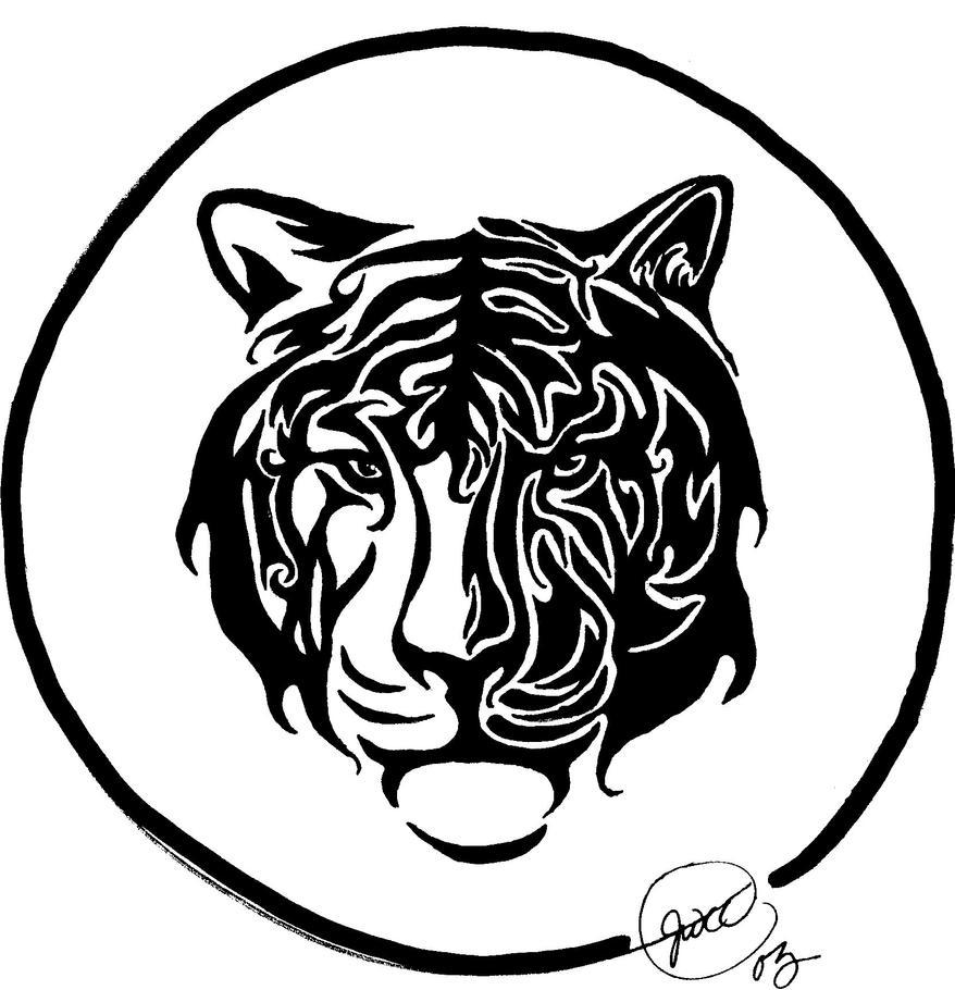 Tribal Tiger By Ruttan On Deviantart: Tribal Tiger For Kendra By JWCC On DeviantArt