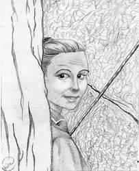 Jen Rockclimbing by JWCC