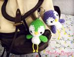 Cute Baby Bird Amigurumi Crochet Keychain Charms by RainbowReverie