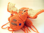 Orange Dragon Amigurumi Plush WIP