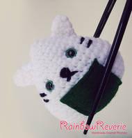 Onigiri Sushi Cat Amigurumi Crochet Plush by RainbowReverie