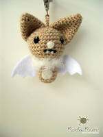 Little Brown Bat Keychain Charm by RainbowReverie