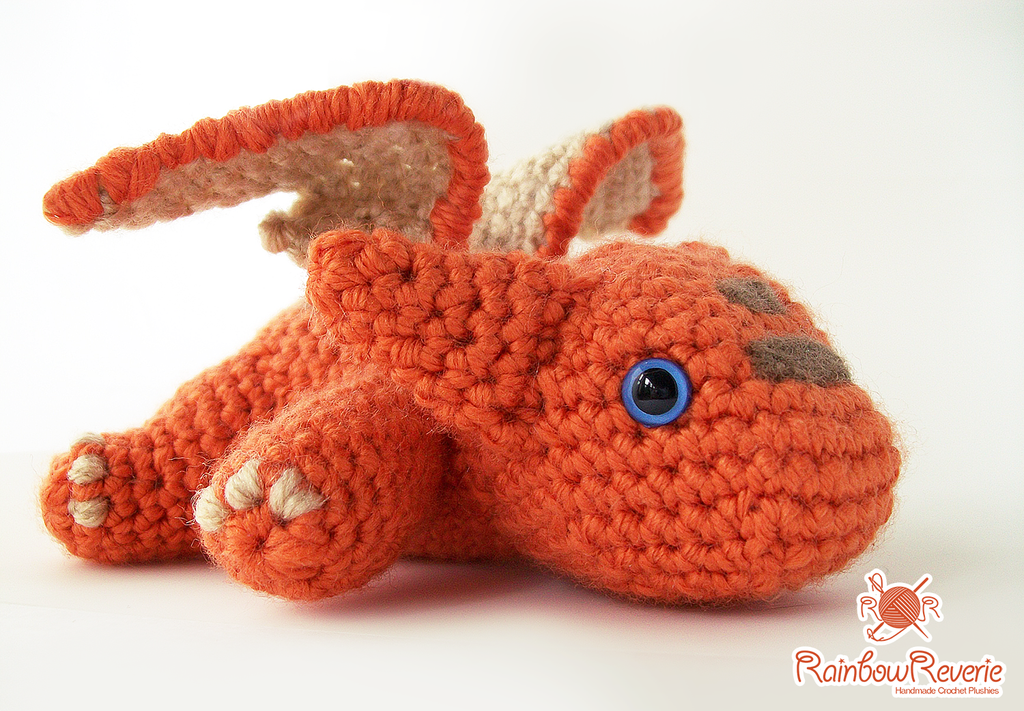 Amigurumi Dragon Gratuit : Orange Baby Dragon Amigurumi by RainbowReverie on DeviantArt